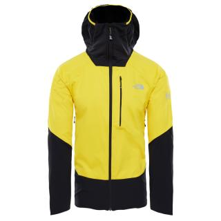 The North Face Mens Summit L4 Windstopper Hybrid Hoodie Canary Yellow/TNF Black
